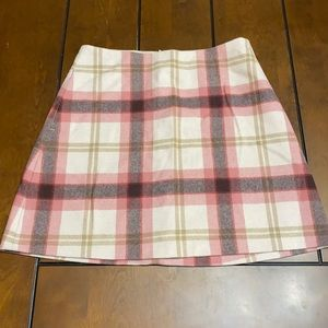 Wilfred Free plaid cashmere/wool skirt size 6